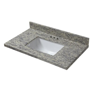 Granite 25 Single Bathroom Vanity Top Finish: Santa Cecilia