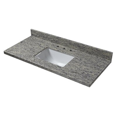 Granite 49 Single Bathroom Vanity Top Finish: Santa Cecilia