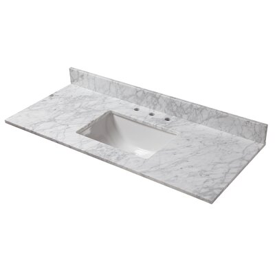 Marble 49 Single Bathroom Vanity Top