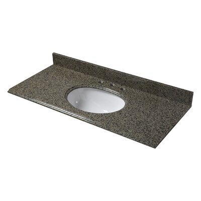 Granite 49 Single Bathroom Vanity Top Finish: Quadro