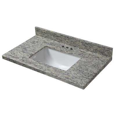 Granite 37 Single Bathroom Vanity Top Finish: Santa Cecilia