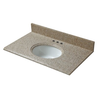 Granite 49 Single Bathroom Vanity Top Finish: Beige