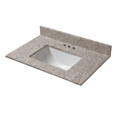 Granite 31 Single Bathroom Vanity Top Finish: Golden