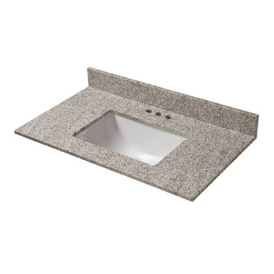 Granite 37 Single Bathroom Vanity Top Finish: Golden