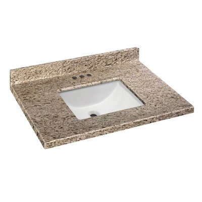 Granite 31 Single Bathroom Vanity Top Finish: Giallo Ornamental