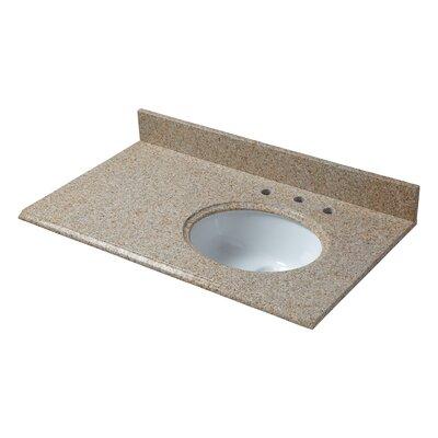 Granite 37 Single Bathroom Vanity Top Finish: Beige