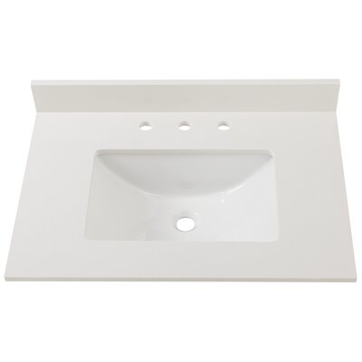 Engineered Marble 31 Single Bathroom Vanity Top Finish: Winter White
