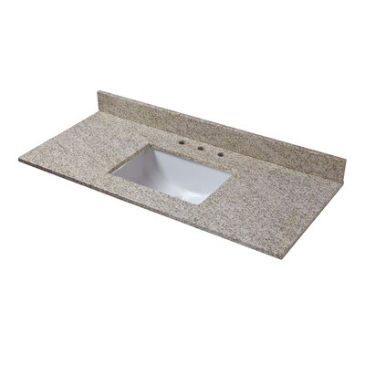 Granite 49 Single Bathroom Vanity Top Finish: Golden