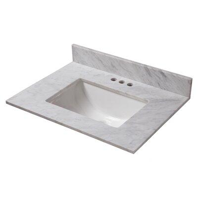 Marble 25 Single Bathroom Vanity Top