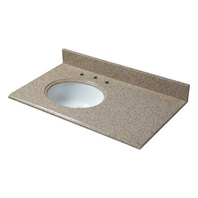 Granite 37 Single Bathroom Vanity Top Finish: Beige