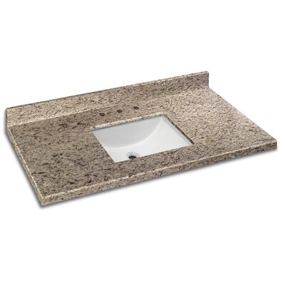 Granite 49 Single Bathroom Vanity Top Finish: Giallo Ornamental