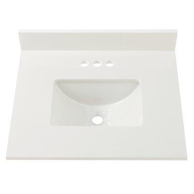 Engineered Marble 25 Single Bathroom Vanity Top Finish: Winter White