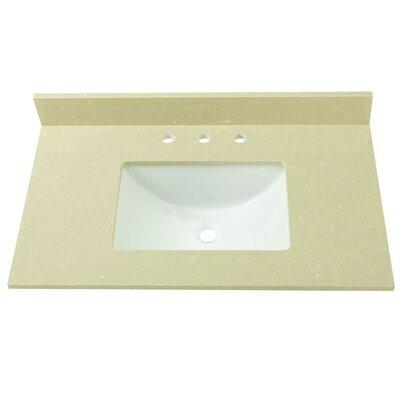 Engineered Marble 37 Single Bathroom Vanity Top Finish: Crema Limestone