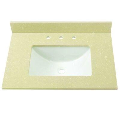 Engineered Marble 31 Single Bathroom Vanity Top Finish: Crema Limestone