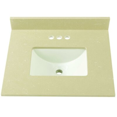 Engineered Marble 25 Single Bathroom Vanity Top Finish: Crema Limestone