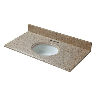 Granite 31 Single Bathroom Vanity Top Finish: Beige