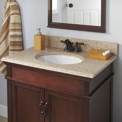 Granite 25 Single Bathroom Vanity Top Faucet Mount: 4 Centers