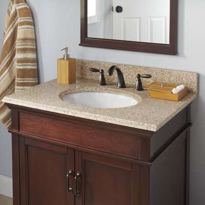 Granite 25 Single Bathroom Vanity Top Faucet Mount: 8 Centers