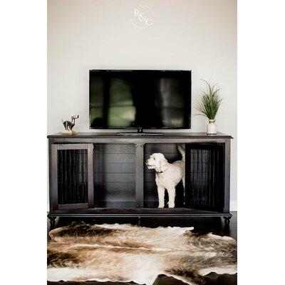 Double Doggie Den� Pet Crate Color: Dark Brown