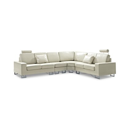Leather Sectional Upholstery: Beige