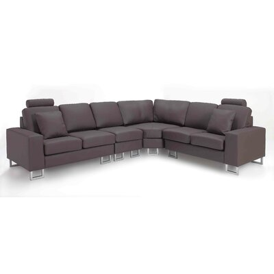 Modular Sectional Upholstery: Brown