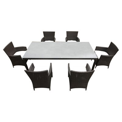 Chiasso 7 Piece Dining Set with Cushions