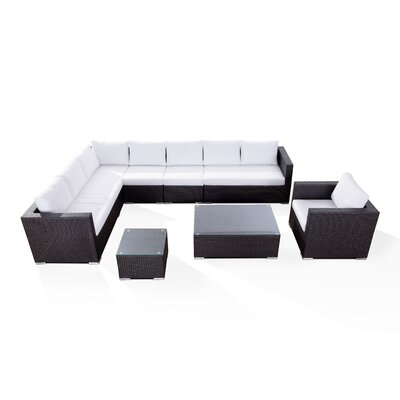 Generoso Lounge 7 Piece Sectional Seating Group with Cushions Fabric: Off-White