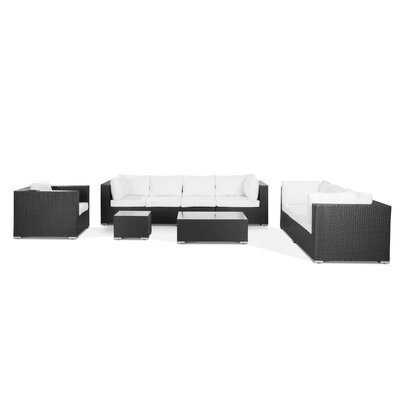 7 Piece Outdoor Deep Seating Group with Cushions