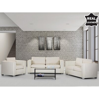 Helsinki European Design Genuine Leather Sofa Set