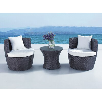 Cresta Lounge 3 Piece Conversation Set with Cushions