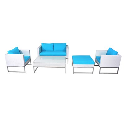 Jane Street 5 Piece Deep Seating Group with Cushions BRYS3765 32660228