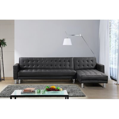 Lacaille Sleeper Sectional Upholstery: Black