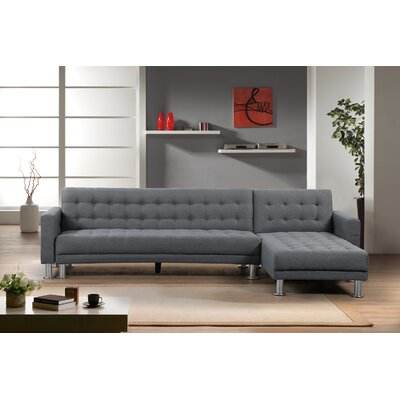 Lacaille Sleeper Sectional Upholstery: Dark Gray