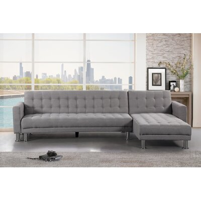 Lacaille Sleeper Sectional Upholstery: Gray