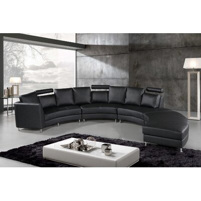 Roberson Leather 2 Piece Living Room Set Upholstery: Black