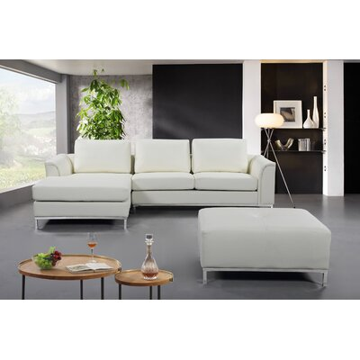 Catlett Sectional with Ottoman Upholstery: Beige, Orientation: Left Hand Facing