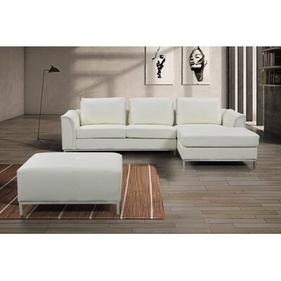 3 Piece Leather Living Room Set Upholstery: Beige