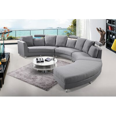 Sectional Upholstery: Grey