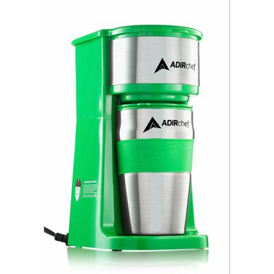Grab and Go Personal Coffee Maker with 15 oz. Travel Mug Color: Green 800-01-GRN