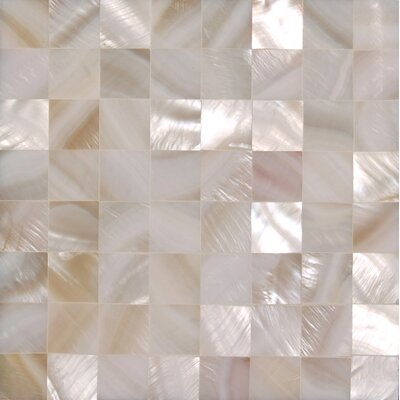 12 x 12 Authentic SeaShell Tile Seamless Square Mosaic panel in Veined White Mother of Pearl