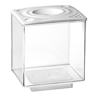 0.75 Gallon Betta Cube Aquarium Tank Color: White