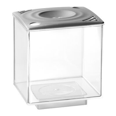 0.75 Gallon Betta Cube Aquarium Tank Color: Silver