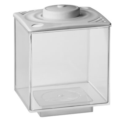 0.75 Gallon Betta Cube LED Aquarium Tank Color: White