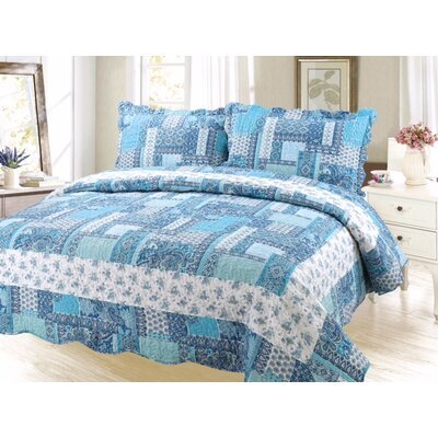 Cameron Modern Reversible Quilt Set Size: Queen