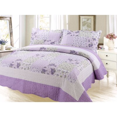 Cameron Contemporary Reversible Quilt Set Size: King