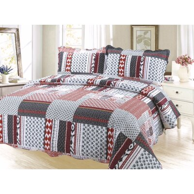 Cameron Plaid Reversible Quilt Set Size: Twin