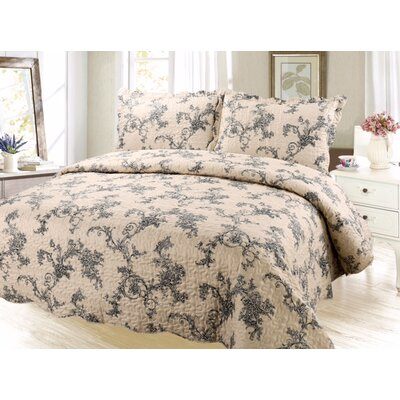 Uman Reversible Quilt Set Size: King