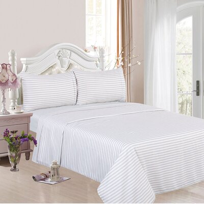 1200 Thread Count Cotton Rich 4 Piece Sheet Set Color: White