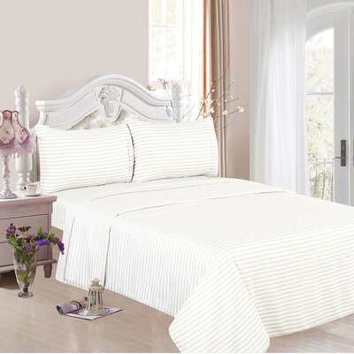 1200 Thread Count Cotton Rich 4 Piece Sheet Set Color: Ivory