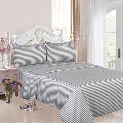 1200 Thread Count Cotton Rich 4 Piece Sheet Set Color: Silver